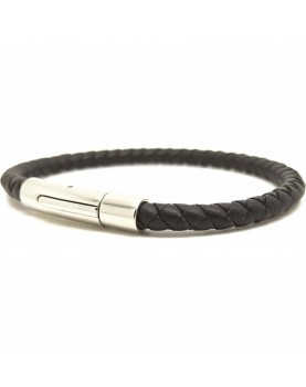 Bracelet cuir marron Tressé...