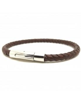 Bracelet cuir gold Tressé...