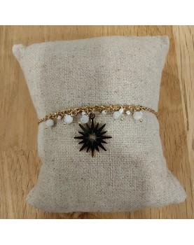 Bracelet doré et blanc Frances