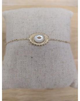 Bracelet doré et blanc Noémie