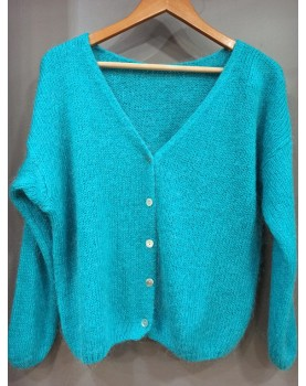 Gilet turquoise Enora