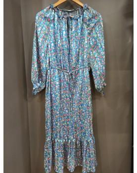 Robe longue bleue Elena
