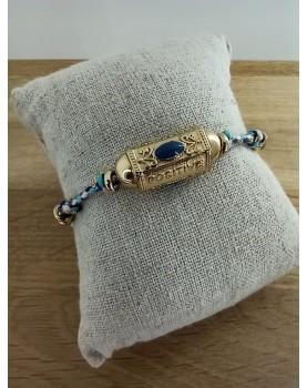 Bracelet doré et bleu Monica