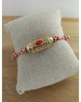 Bracelet doré et rouge Monica