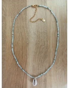 Collier perle et coquillage...