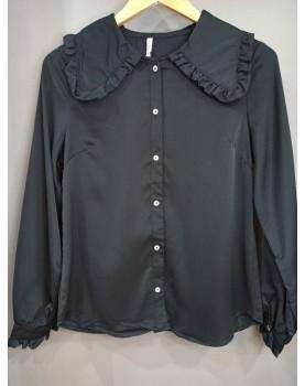 Chemise noire col claudine...