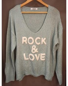 Pull bleu Rock & Love Paolo