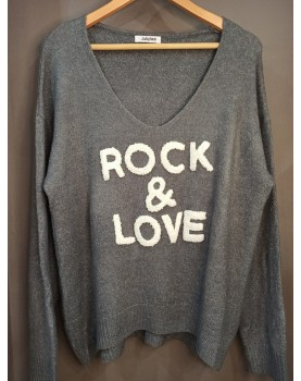 Pull gris Rock & Love Paolo